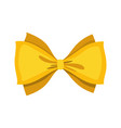 gold bow cartoon yellow luxury design vector image
