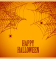 halloween spider cobweb spooky and scary vector image vector image