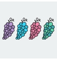 Hand-drawn grape - on the theme of the summer and vector image vector image