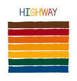 Highway Color Tone without Name vector image