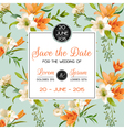 Invitation or Congratulation Card - for Wedding vector image vector image