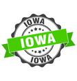 iowa round ribbon seal vector image vector image