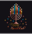 jewish holiday hanukkah vector image