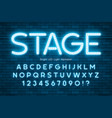 led light 3d alphabet extra glowing modern type vector image vector image