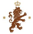 lion emblem vector image vector image