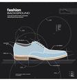 Man shoe design vector image