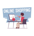 online shopping service vector image vector image