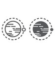 orbit line and glyph icon cosmos and space vector image vector image