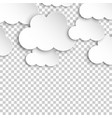 paper clouds artoon paper cloud on isolated vector image vector image