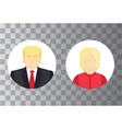 Presidential candidate isolated Icons Election vector image vector image