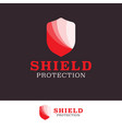 protect shield security logo design template vector image