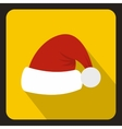 Santa Claus hat icon flat style vector image vector image