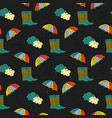 seamless autumn pattern with umbrella and vector image vector image