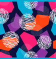 seamless geometric pattern design with dots and vector image vector image