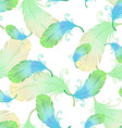 Seamless pattern with bird feathers vector image vector image
