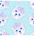seamless pattern with head of dog vector image vector image
