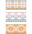 seamless patterns 3 vector image vector image
