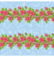 seamless roses blue vector image vector image