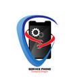 service phone logo vector image vector image