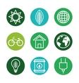 set eco friendly icons vector image