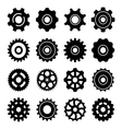 set icons gears vector image
