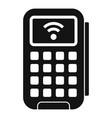 smart door keypad icon simple style vector image vector image
