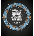 Spruce christmas wreath vector image