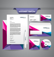 Stationery Template Polygonal vector image vector image