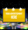 street advertisement city background vector image