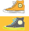 Stylized sport shoes vector image