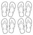 summer flip flops coloring page vector image