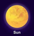sun icon isometric style vector image