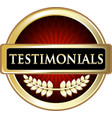 testimonials gold icon vector image vector image