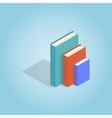 Three books standing vertically icon vector image