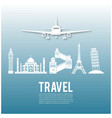 travel infographics landmark and transport vector image