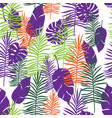 tropical color leaves vector image vector image