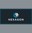wb hexagon logo design inspiration vector image vector image