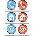 web contact buttons vector image vector image