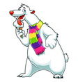 white bear vector image vector image