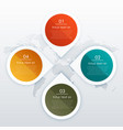 circle and arrow style four steps infographics vector image