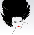 Female Face Silhouette vector image