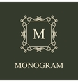 Simple and graceful monogram design template vector image