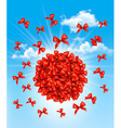 A cloud of bows Gift sale concept vector image