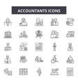 accountants line icons signs set outline vector image vector image