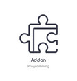 addon outline icon isolated line from programming vector image vector image