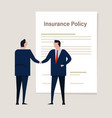 agreement insurance policy insurance claim vector image vector image