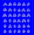 alphabet in modern style with distorted letters vector image vector image