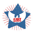 American Independence Day Symbol of countrys star vector image vector image