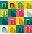 Arch set icons flat style vector image vector image