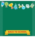 back to school board items vector image vector image